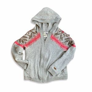 The North Face Wool Hooded Sweater Fair Isle Print
